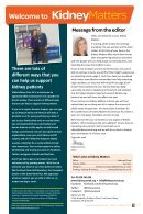 Kidney Matters - Issue 5, Spring 2019 - Page 3