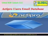 Actipro Users Email Database