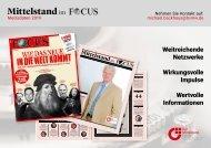 Mittelstand im FOCUS - Mediadaten