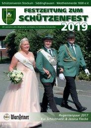 Festzeitung zum Schützenfest 2019
