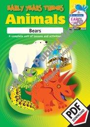 RIC-20962 Early years Animals - Bears
