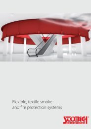 Stöbich - flexible, textile smoke and fire protection systems
