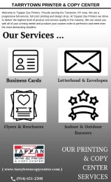 Printing & Copy Center Services In New York