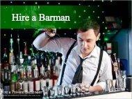 Barman Hire London | Hire A Private Bartender