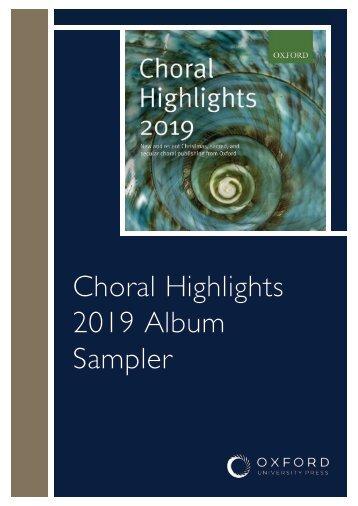 Choral Highlights 2019: Sampler Booklet