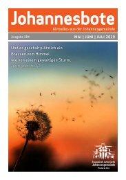 Johannesbote #184 Mai | Juni | Juli 2019