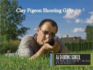 Special Clay Pigeon Shooting Gifts from AA Shooting School