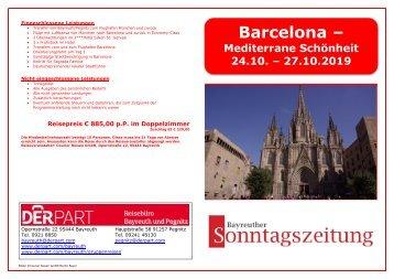 Flugreise Barcelona 24. bis 27.102019