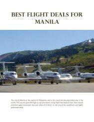 Best Flight Deals for Manila