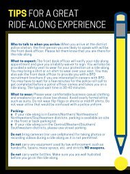 tips for a great ride-along (2)