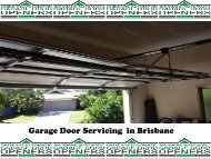 Garage Door Spring Repair in Brisbane