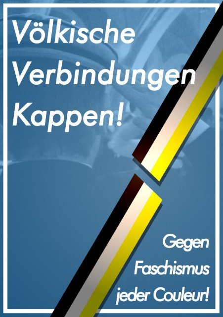 Broschüre: Völkische Verbindungen Kappen! - Gegen Faschismus jeder Couleur!