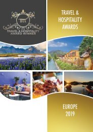 Travel & Hospitality Awards - Europe Winners 2019
