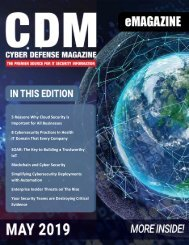 Cyber Defense eMagazine May 2019
