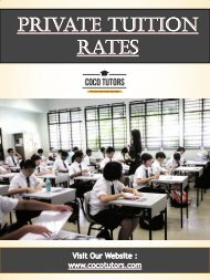 Private Tuition Rates | Call - 65-9177-9055 | www.cocotutors.com