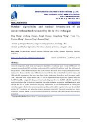Nutrient digestibility and ruminal fermentation of an unconventional feed estimated by the in vivo techniques