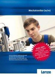 Broschüre Lenze-Ausbildung