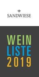 Weingut Sandwiese - Preisliste 2019