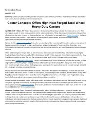 Caster Concepts Offers High Heat Forged Steel Wheel Heavy Duty Casters
