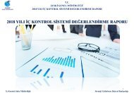 2018 Yili SUSKI Genel Müdürlügü Iç Kontrol Sistemi Degerlendirme Raporu