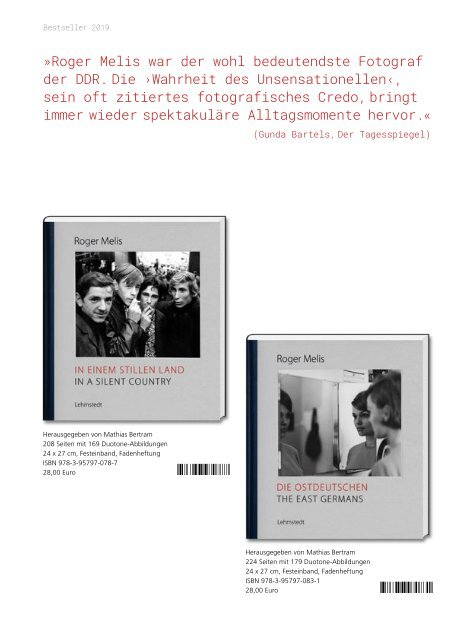 Lehmstedt Verlagsprogramm Herbst 2019