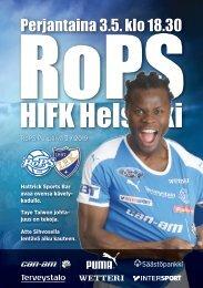 Käsiohjelma RoPS - HIFK 3.5.2019