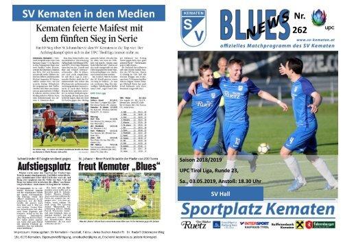 Blues News 262: Topspiel SV Kematen vs. SV Hall