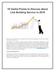 10 Useful Points to Discuss about Link Building Service in 2019