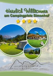 Broschüre Campingplatz Simonhof Ramsau 2019