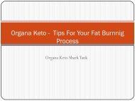 Organa Keto -  Tips For Your Fat Burnnig Process
