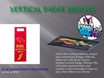 Vertical Badge Ribbons & Horizontal Badge Ribbons