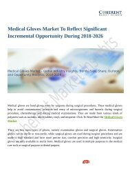 Medical Gloves Market Estimated to Record Highest CAGR by 2026