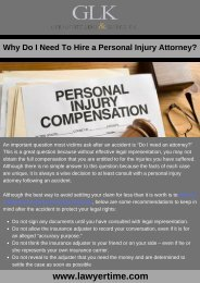 Why Do I Need To Hire a Personal Injury Attorney?