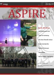ASPIRE Newsletter - 3rd May 2019
