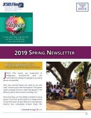 2019 JFHP Spring Newsletter