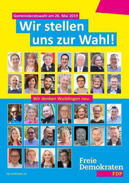 FDP Waiblingen Kandidaten Gemeinderat 2019