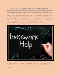 Tips to Tackle Impossible Homework
