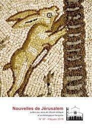 Nouvelles Jérusalem Pâques 2019