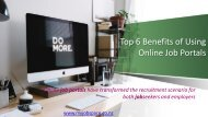 Top 5 Benefits of Using Online Job Portals