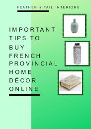 Important Tips to Buy French Provincial Home Décor Online