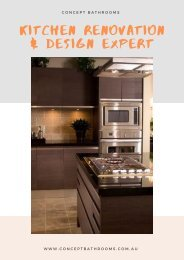 Renovate Your Kitchen Spaces with Style and Functionality - Concept Bathrooms