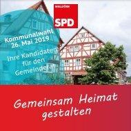 Kandidatenbroschüre der SPD Walldürn zur Kommunalwahl 2019