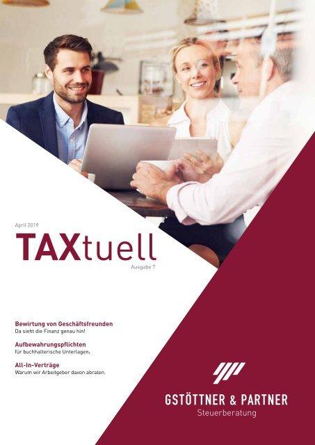 TAXtuell Ausgabe 7 - Mai 2019
