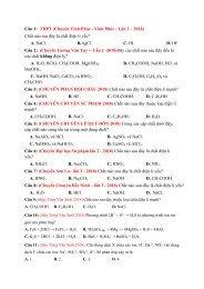 Hệ thống câu lý thuyết môn Hóa Học tách từ đề thi thử 2018