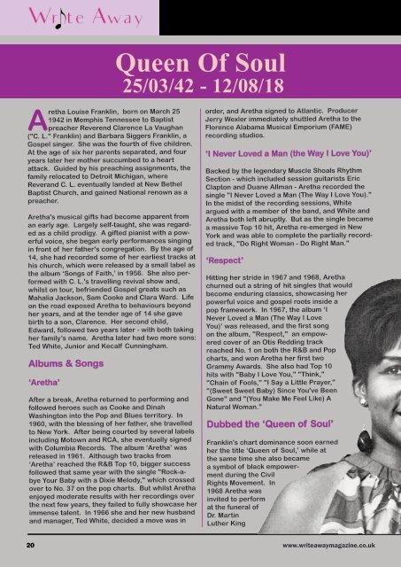 Write Away Magazine - May Issue