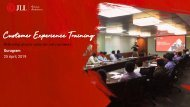 Customer Experience Training Report- 25th April