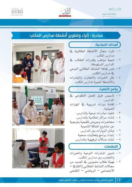 تقرير النشاط الطلابي بمكتب التعليم