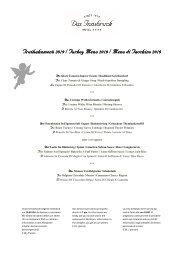 Truthahnmenü, Turkey menu, Menu di tacchino 2019 D,E,I