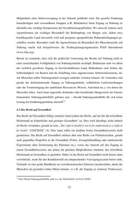 Die wirtschaftlichen, sozialen und kulturellen Menschenrechte: Die ...