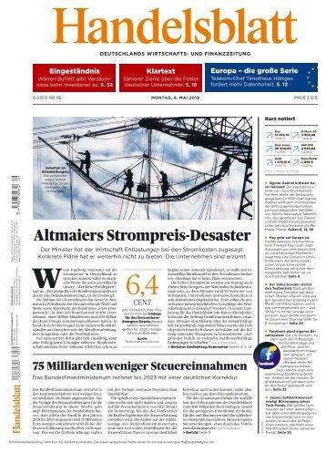 Handelsblatt 06.05.2019